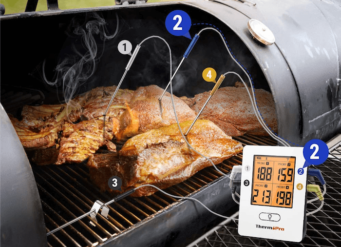 multi probe thermometer | cooking multiple pieces of meat at the same time | smoking more than one piece of meat at a time