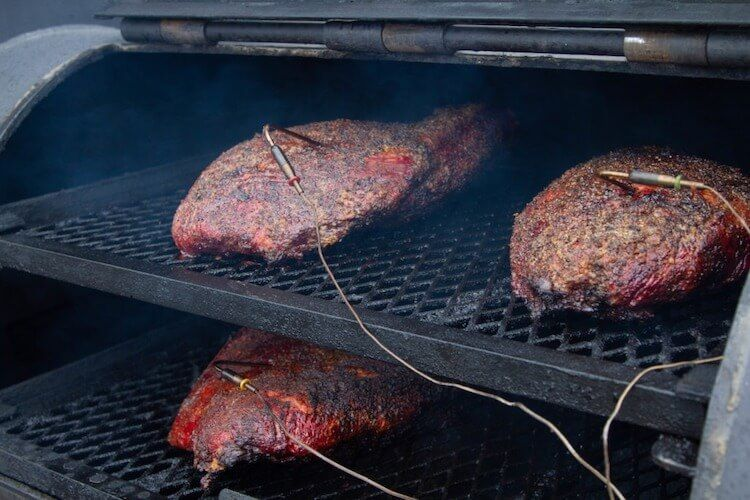 smoking multiple briskets | smoking multiple pieces of meat together | cooking multiple pieces of meat at the same time