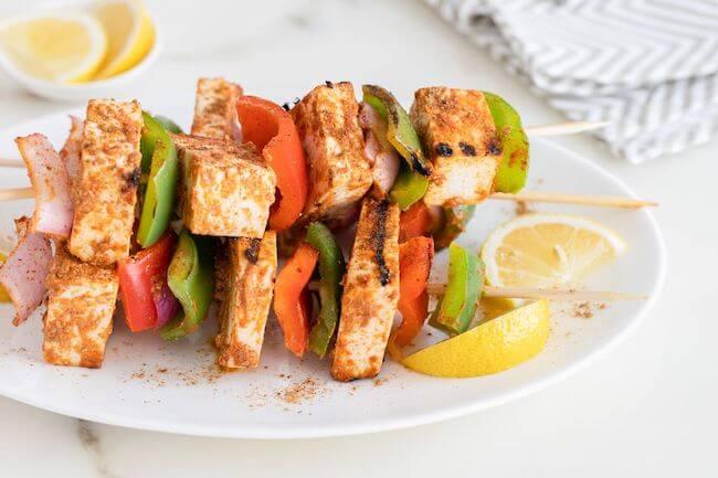 vegetarian grilled kebabs | vegetarian grilling ideas | vegetarian BBQ ideas