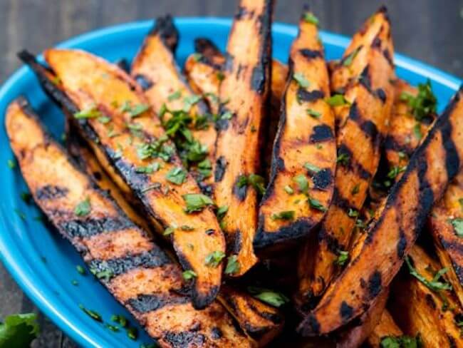 foods you didn't know you can grill | healthy foods you can grill | grilled sweet potato