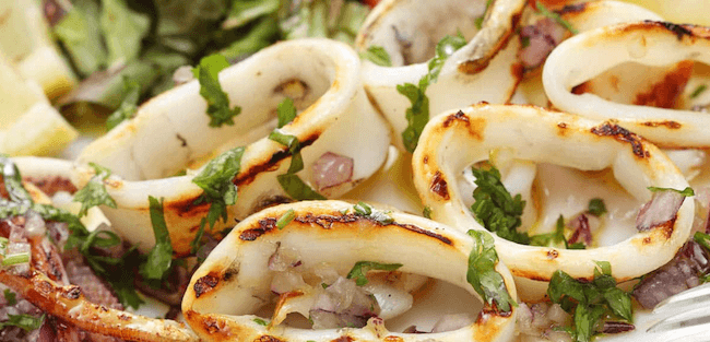 unusual foods to grill | healthy foods you can grill | grilled calamari